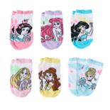 Disney Princess Girls 4-12 6-pk. No-Show Socks
