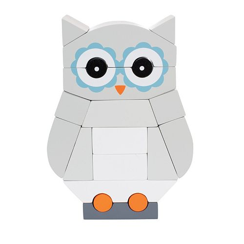 Manhattan Toy Luna The Owl Magnetic Stacking Block Puzzle