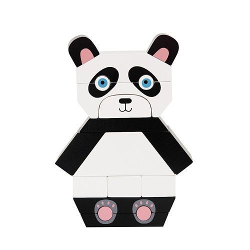 Manhattan Toy Patches The Panda Magnetic Stacking Block Puzzle