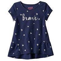 Toddler Girl Jumping Beans® Brave Glittery Stars Tee
