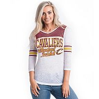 Women's Cleveland Cavaliers Athletic Burnout Tee