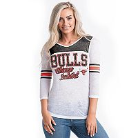 Women's Chicago Bulls Athletic Burnout Tee
