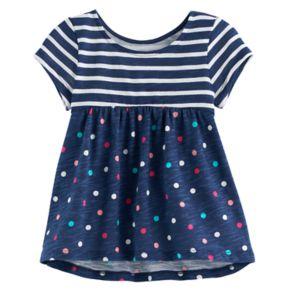 Baby Girl Jumping Beans® Print Short-Sleeve Babydoll Tunic