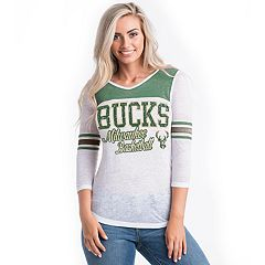 Women's Milwaukee Bucks Athletic Burnout Tee