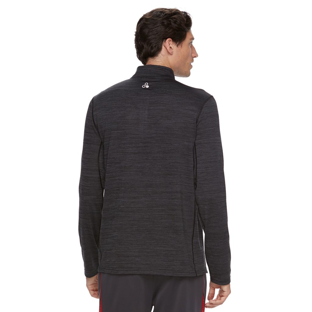Men's Tek Gear® Space-Dyed Quarter-Zip Top