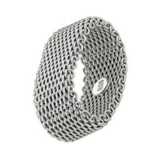 Journee Collection Sterling Silver Mesh Ring