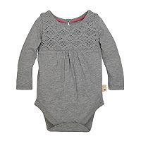 Baby Girl Burt's Bees Baby Organic Crochet Bodysuit