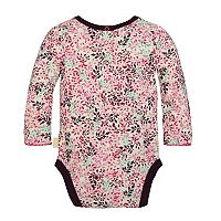 Baby Girl Burt's Bees Baby Organic Leaf Ruched Bodysuit