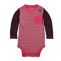 Baby Girl Burt's Bees Baby Organic Striped Bodysuit