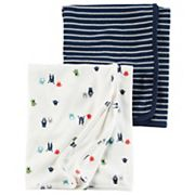 Baby Boy Carter's Monsters & Stripes 2 pkSwaddles