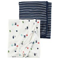 Baby Boy Carter's Monsters & Stripes 2-pk. Swaddles