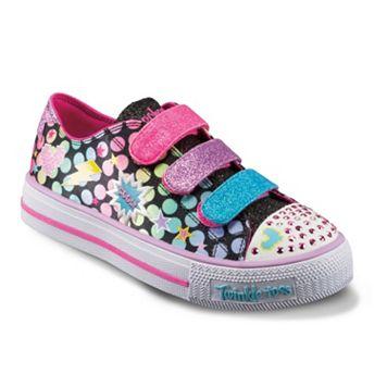 Skechers Twinkle Toes Shuffles Poppin Girls' Light-Up Sneakers