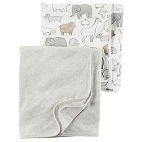 Baby Carter's 2-pk. Animal & Solid Babysoft Swaddle Blankets