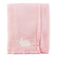 Baby Girl Carter's Bunny Velboa Blanket