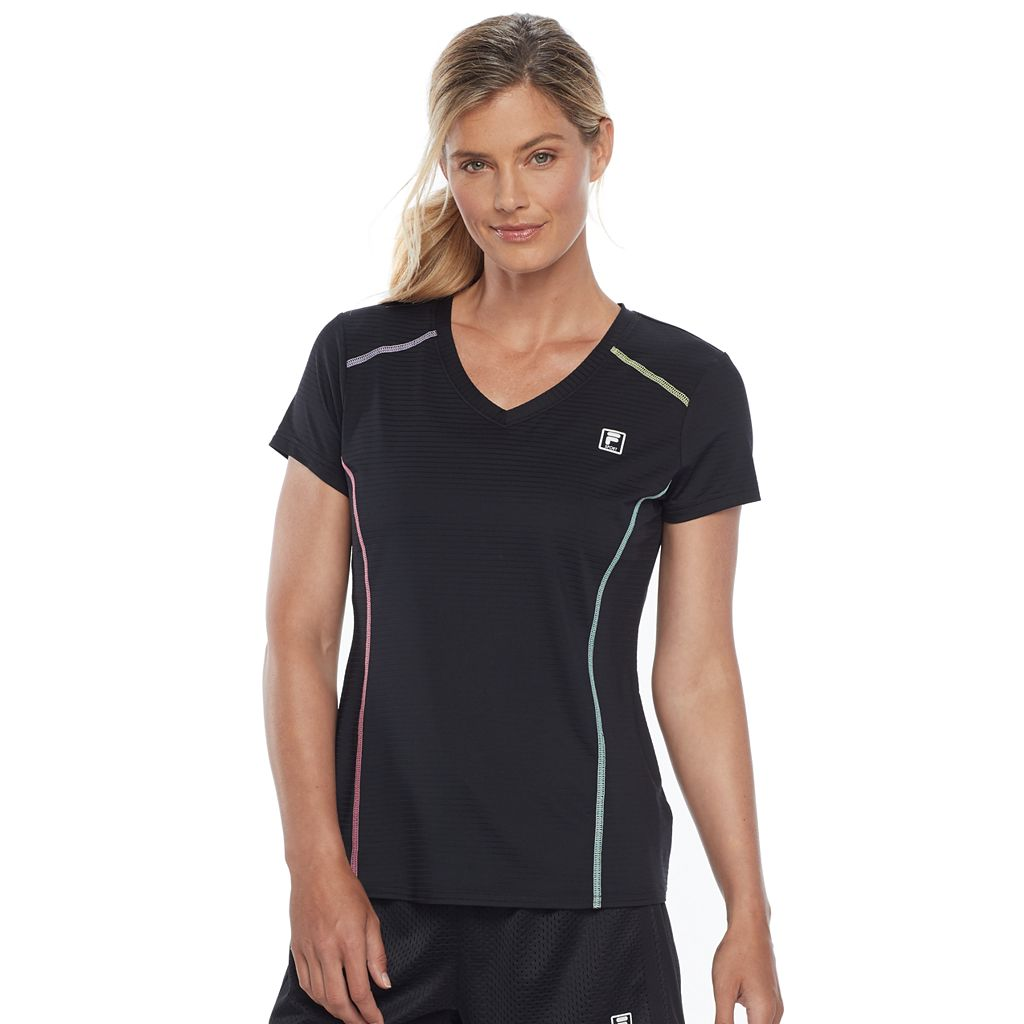 Women's FILA SPORT® V-Neck Short Sleeve Tee