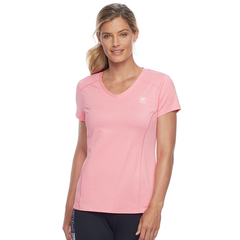 Women's FILA SPORT® V-Neck Short Sleeve Tee