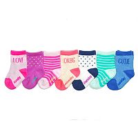Girls 4-7 OshKosh B'gosh® 7-pk. Dotted Days of the Week Crew Socks