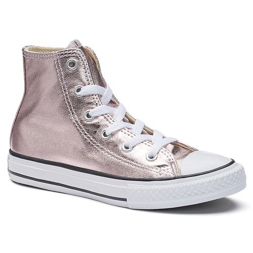 bfaffd370c0a Girls  Converse Chuck Taylor All Star Metallic High Top Sneakers