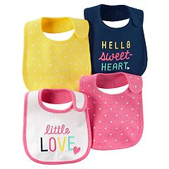 Baby Girl Carter's 4 pkPolka-Dot & Graphic Bibs