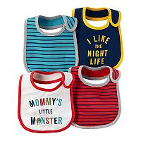 Baby Boy Carter's 4 pkStriped & Graphic Bibs