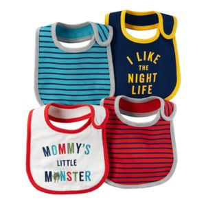 Baby Boy Carter's 4-pk. Striped & Graphic Bibs