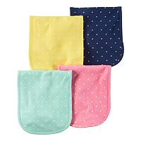 Baby Girl Carter's 4pk. Polka-Dot Burp Cloths