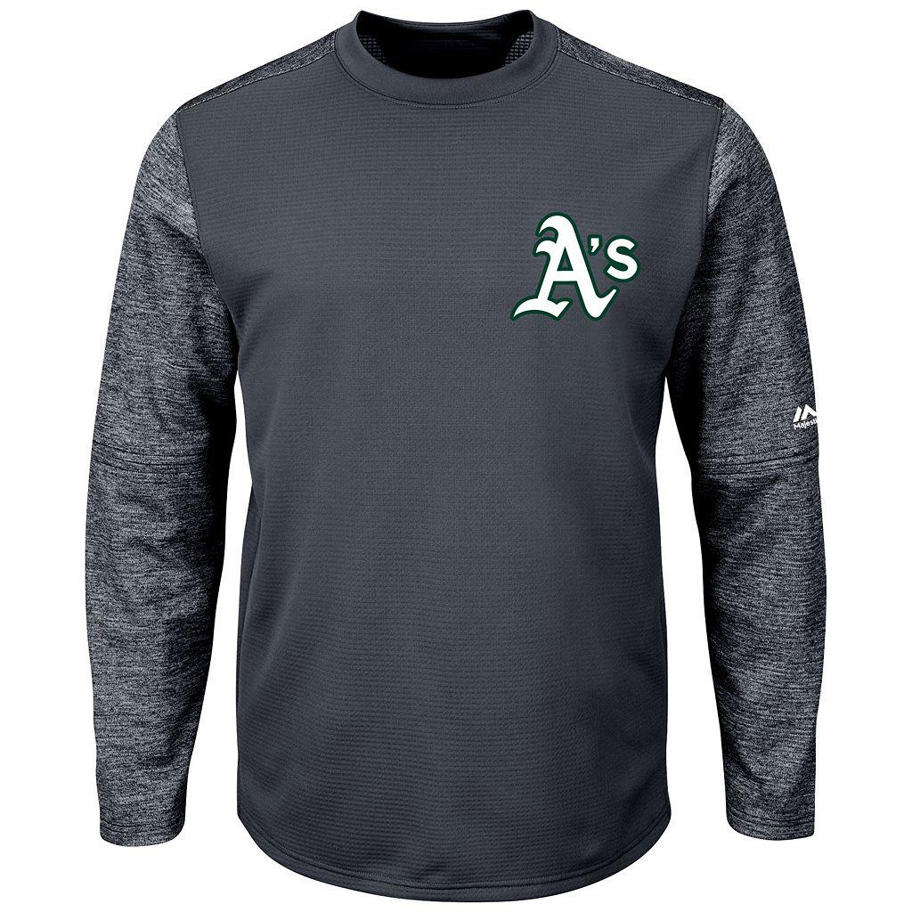 Men's Majestic Oakland Athletics Tech Fleece Tee