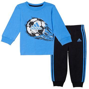 Baby Boy adidas Soccerball Tee & Pants Set