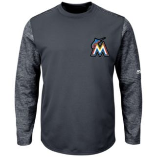 Men's Majestic Miami Marlins Tech Fleece Tee