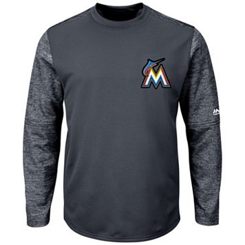 Men's Majestic Miami Marlins Tech Fleece Tee