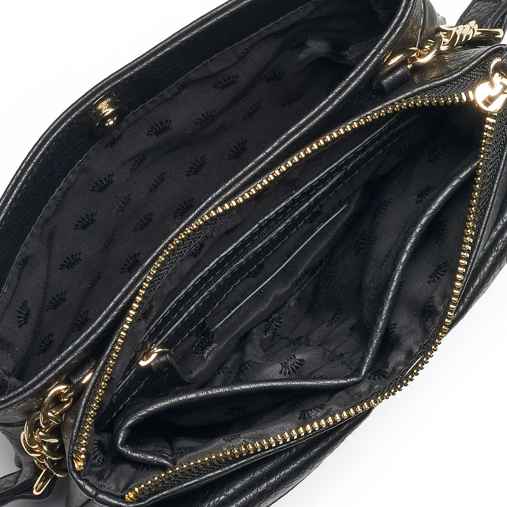 Juicy Couture Double Pocket Double Entry Crossbody Bag