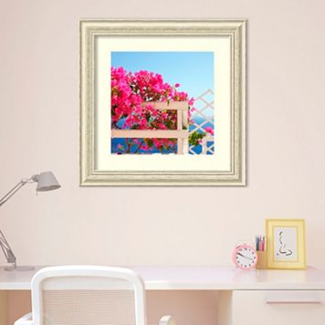 Amanti Art Santorini Blooms Framed Wall Art