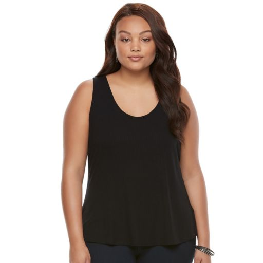 Juniors' Plus Size Candie's® Ribbed Ladder Back Tank