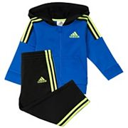 Baby Boy adidas Striped Zip Hoodie & Pants Set