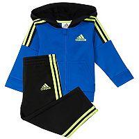 Baby Boy adidas Striped Zip Hoodie & Pants Set