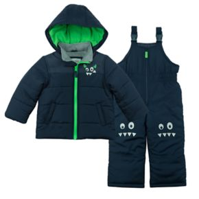 Toddler Boy Carter's Monster Quilted Heavyweight Jacket & Snow Pants Set