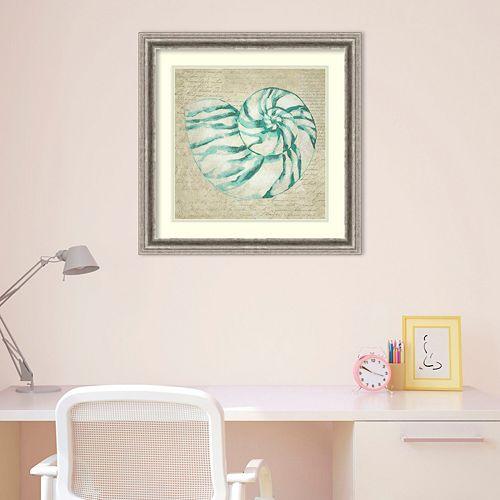 Amanti Art Seafoam Shell I Framed Wall Art