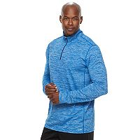 Big & Tall Tek Gear® Athletic-Fit Space-Dyed DRY TEK Quarter-Zip Performance Hoodie