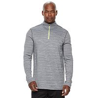 Big & Tall Tek Gear® Athletic-Fit Space-Dyed DRY TEK Transitional Quarter-Zip Hoodie