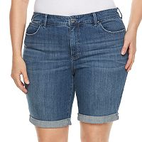 Plus Size Jennifer Lopez Roll-Cuff Bermuda Shorts