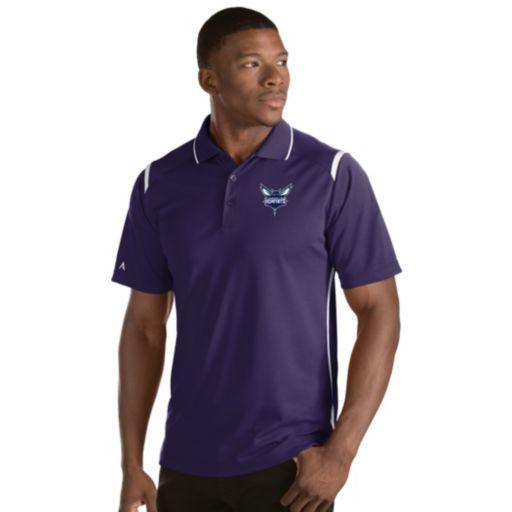 Men's Antigua Charlotte Hornets Merit Polo