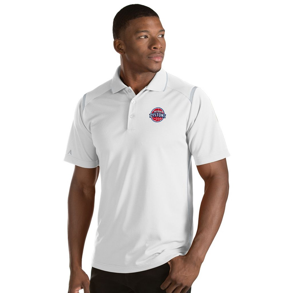 Men's Antigua Detroit Pistons Merit Polo
