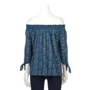 Women's SONOMA Goods for Life? Smocked Off-the-Shoulder Top