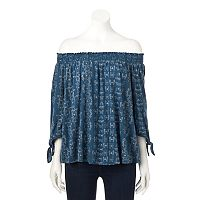 Women's SONOMA Goods for Life™ Smocked Off-the-Shoulder Top