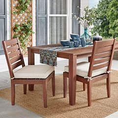 HomeVance Glen View Brown Patio Dining Chair 2 pc Set