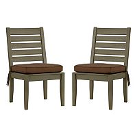 HomeVance Glen View Gray Patio Dining Chair 2-piece Set