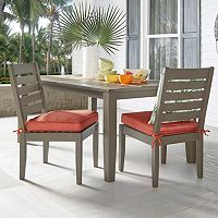 HomeVance Glen View Gray Patio Dining Chair 2 pc Set