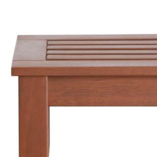 HomeVance Glen View Indoor / Outdoor Wood Bench