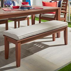 HomeVance Glen View Brown Patio Bench
