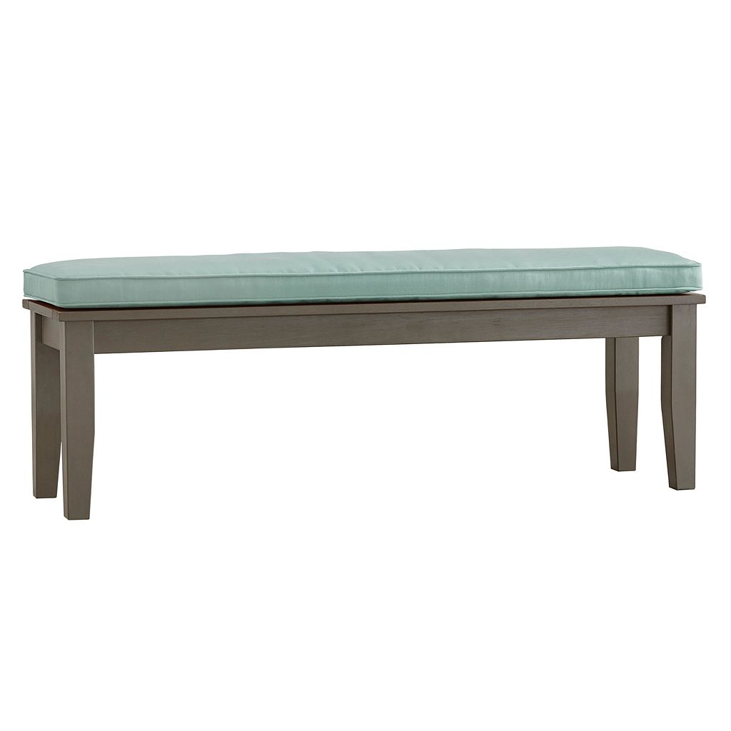 HomeVance Glen View Gray Patio Bench